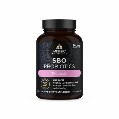 Ancient Nutrition Women's SBO Probiotics Capsules Perspective: front