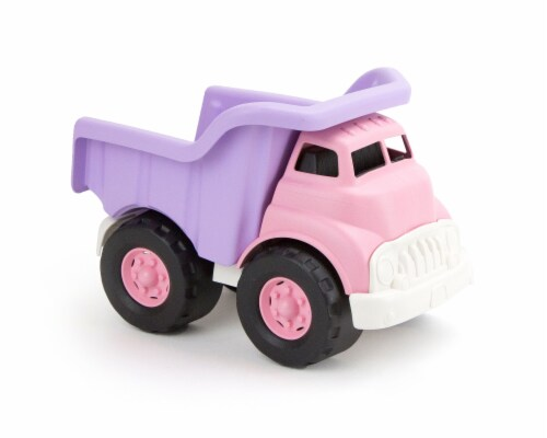 Green Toys Toy Dump Truck - Pink Perspective: front