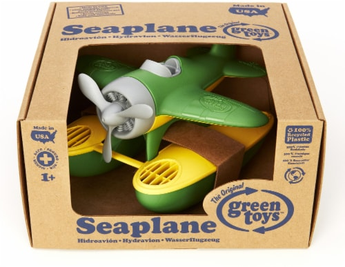 Green Toys Seaplane - Green/Yellow Perspective: front