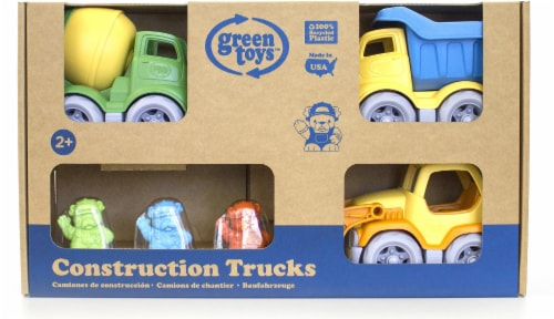Green Toys Construction Trucks & Dogs Play Set Perspective: front