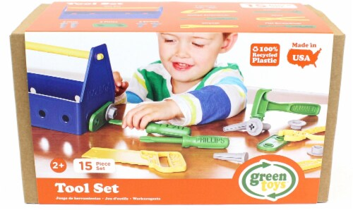 Green Toys Tool Play Set - Blue Perspective: front