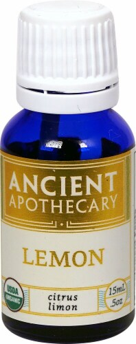 Ancient Apothecary Organic Essential Lemon Oil Perspective: front