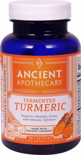 Ancient Nutrition Ancient Apothecary Organic Fermented Turmeric Dietary Supplement Capsules Perspective: front