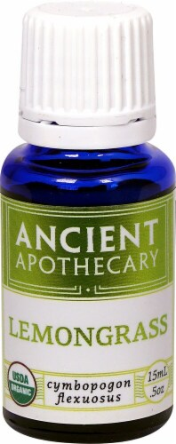 Ancient Apothecary Organic Essential Lemongrass Oil Perspective: front