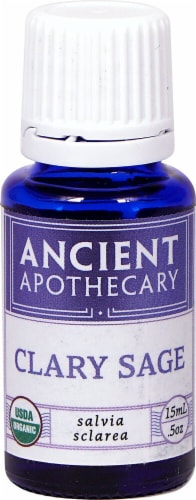 Ancient Apothecary Organic Essential Clary Sage Oil Perspective: front