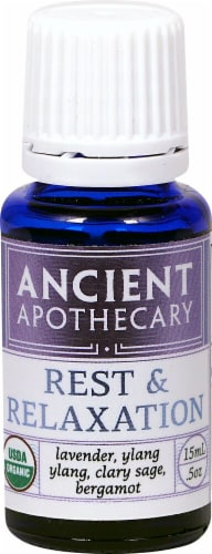 Ancient Apothecary Organic Essential Rest & Relaxation Oil Perspective: front