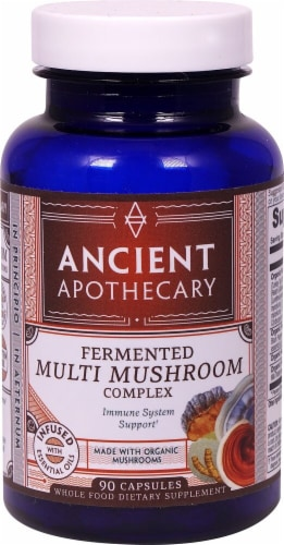 Ancient Nutrition Ancient Apothecary Organic Fermented Multi Mushroom Complex Capsules Perspective: front