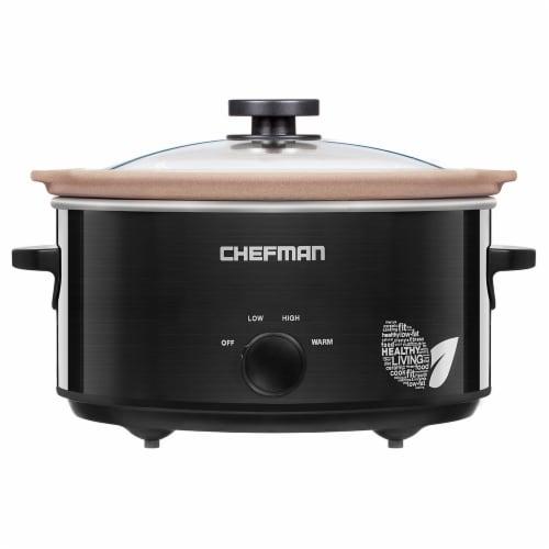 Chefman Natural Slow Cooker - Black Perspective: front