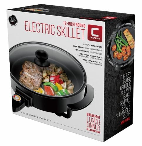 Chefman Round Electric Skillet - Black Perspective: front