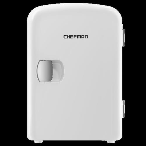 Chefman Mini Portable Personal Fridge - White Perspective: front