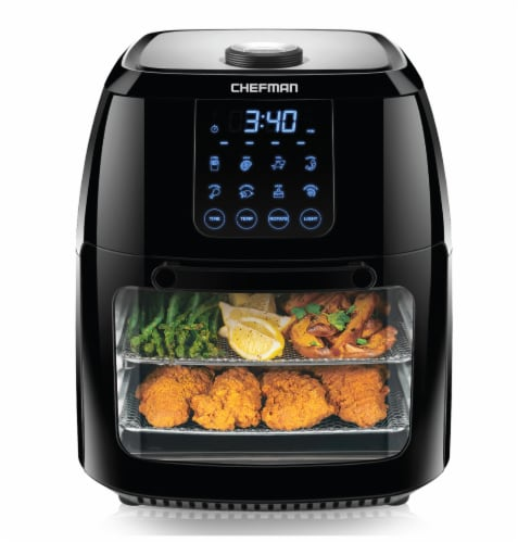 Chefman Multi-Functional Digital Air Fryer - Black Perspective: front