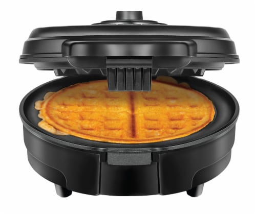 Chefman Anti-Overflow Belgian Waffle Maker - Black Perspective: front