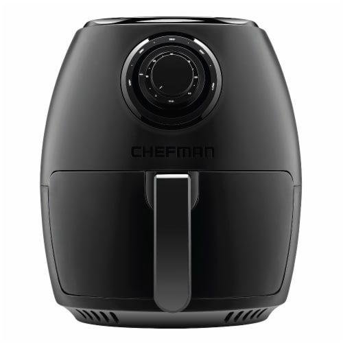 Chefman Analog Air Fryer with Dual Control - Black Perspective: front