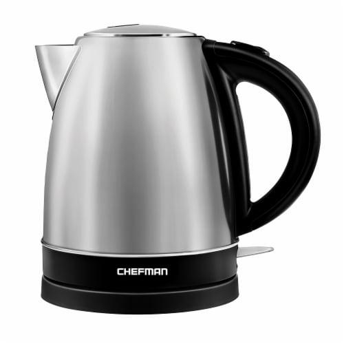 Chefman Stainless Steel Electric Kettle Perspective: front