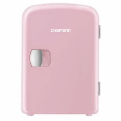 Chefman Mini Portable Personal Fridge - Pink Perspective: front