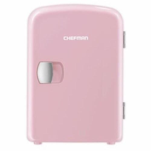 Chefman Mini Portable Personal Fridge - Pink Perspective: front