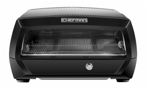 Chefman Food Mover Conveyor Toaster Oven - Black Perspective: front