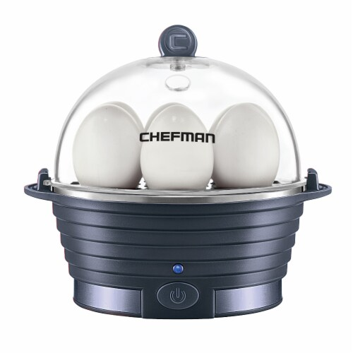 Chefman Electric Egg Cooker Boiler - Midnight Perspective: front