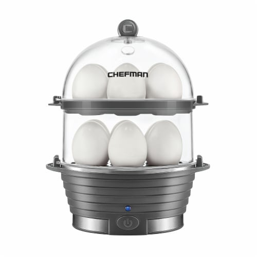 Chefman Electric Double Decker Egg Cooker Boiler - Gray Perspective: front
