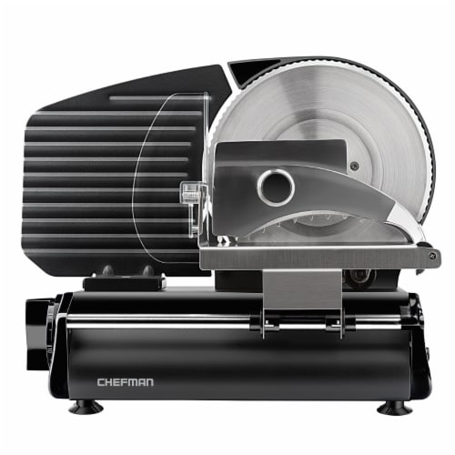 Chefman Stainless Steel Die-Cast Electric Quick Release Meat Slicer - Black Perspective: front