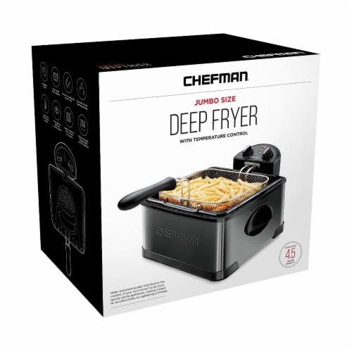 Chefman Stainless Steel Deep Fryer - Black Perspective: front