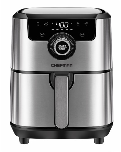 Chefman Square Stainless Steel Air Fryer - Silver Perspective: front