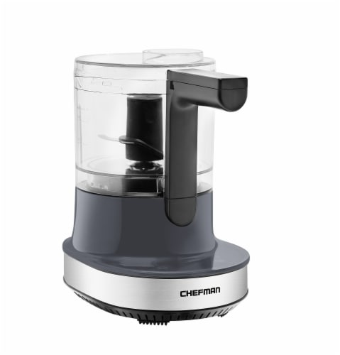 Chefman Stainless Steel Electric Food Processor - Gray Perspective: front
