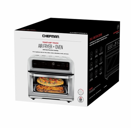 Chefman Stainless Steel Dual-Function Air Fryer and Toaster Oven Perspective: front