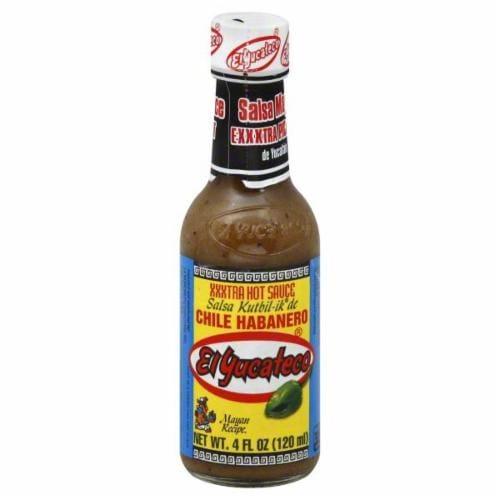 El Yucateco Xxxtra Hot Sauce Perspective: front