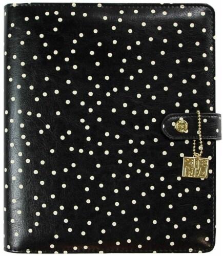 Carpe Diem A5 Planner-Black Speckle Perspective: front