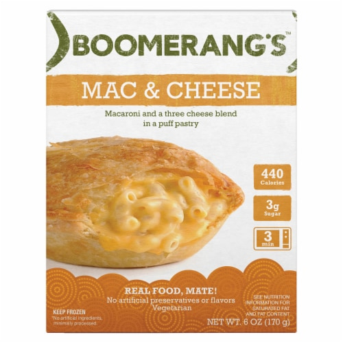Boomerang's Mac & Cheese Pot Pie Perspective: front