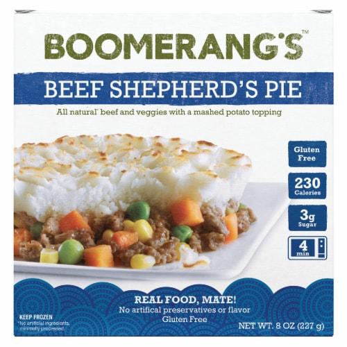 Boomerang's Beef Shepherd's Pie Perspective: front