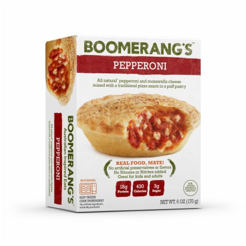 Boomerang's Pepperoni Pot Pie Perspective: front