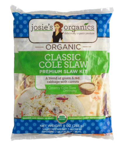 Josie's Organics Classic Cole Slaw Premium Slaw Kit Perspective: front