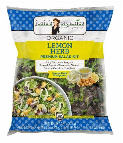 Josie's Organics Lemon Herb Premium Salad Kit Perspective: front