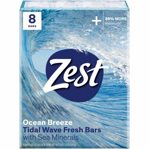 Zest Ocean Breeze Bar Soap Perspective: front