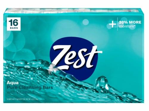Zest Aqua Pure Cleansing Bar Soap Perspective: front