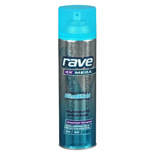 Rave 4X Mega Unscented Hair Spray Perspective: front