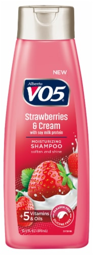VO5 Moisture Milks Strawberries & Cream Moisturizing Shampoo Perspective: front