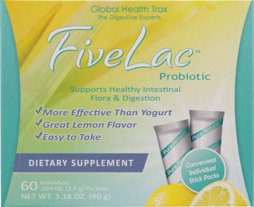Global Health Trax  FiveLac™ Probiotic   Lemon Perspective: front