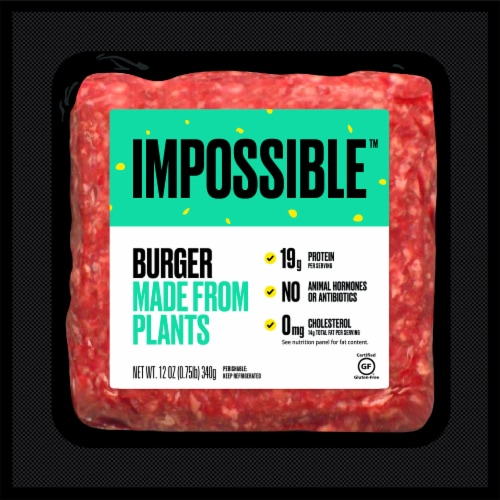 Impossible Plant Burger Perspective: front