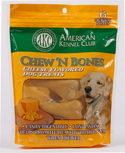 American Kennel Club Chew N' Bones Cheese Flavored Dog Treats Perspective: front