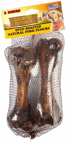 Country Kitchen Natural Pork Femur Dog Treats Perspective: front