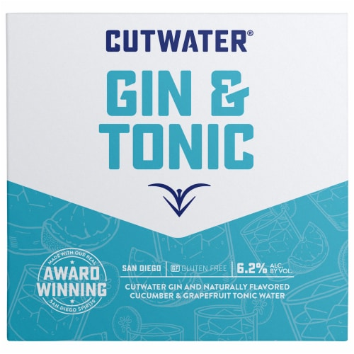 Cutwater Spirits Old Grove Gin & Tonic Perspective: front