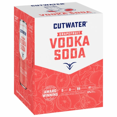 Cutwater Spirits Fugu Grapefruit Vodka Soda Cocktail Perspective: front