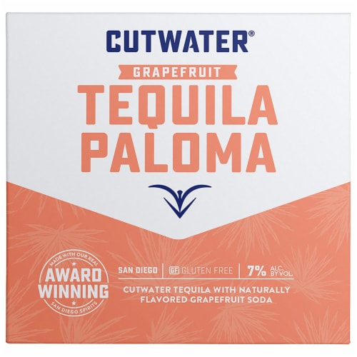 Cutwater Spirits Grapefruit Tequila Paloma Cocktail Perspective: front