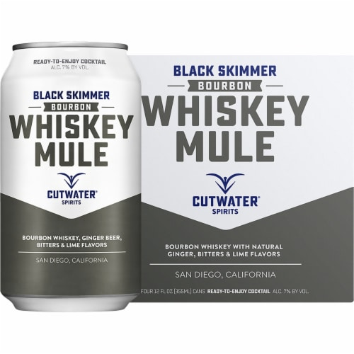 Cutwater Spirits Black Simmer Bourbon Whiskey Mule Perspective: front