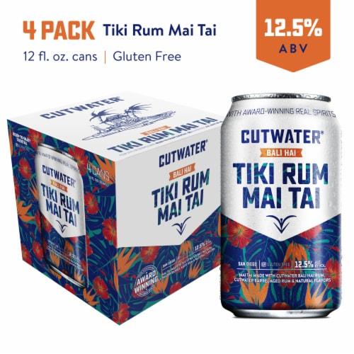 Cutwater Spirits Bali Hai Tropical Tiki Rum Mai Tai Cocktails Perspective: front
