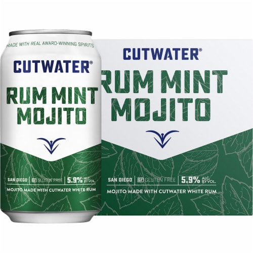Cutwater Spirits Rum Mint Mojito Perspective: front