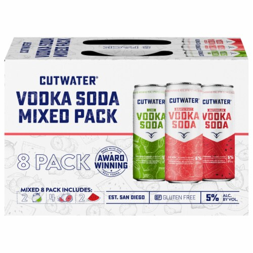 Cutwater Spirits Classic Vodka Soda Mixed Variety Pack Perspective: front